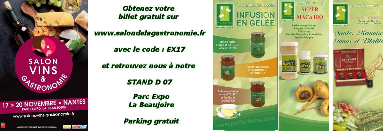 Salon Vins et Gastronomie de Nantes - PARIS LOTUS Stand D 07
