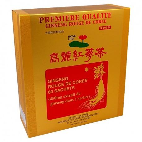 Ginseng rouge de Corée boite de 60 sachets de granulés de Paris Lotus