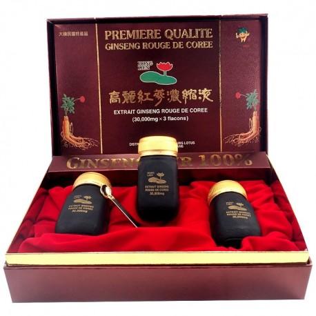Ginseng de Corée coffret de 3 bouteilles d'extrait pur